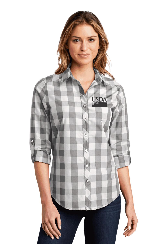 Port Authority® Ladies Everyday Plaid Shirt
