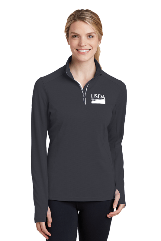 Ladies Sport-Wick Textured 1/4-Zip Pullover  Custom Embroidery Available