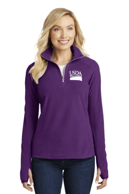 Ladies' Half-Zip Microfleece Pullover  Custom Embroidery Available