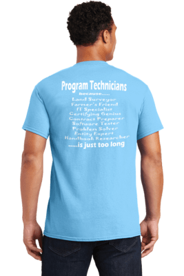 Program Technicians because.....   REGULAR PRICE  $17.00