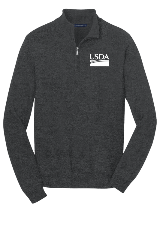 1/2 Zip Unisex Sweater Custom Embroidery Available