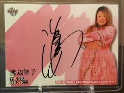 Tomoko Watanabe 2018 BBM Joshi True Heart Autograph /100