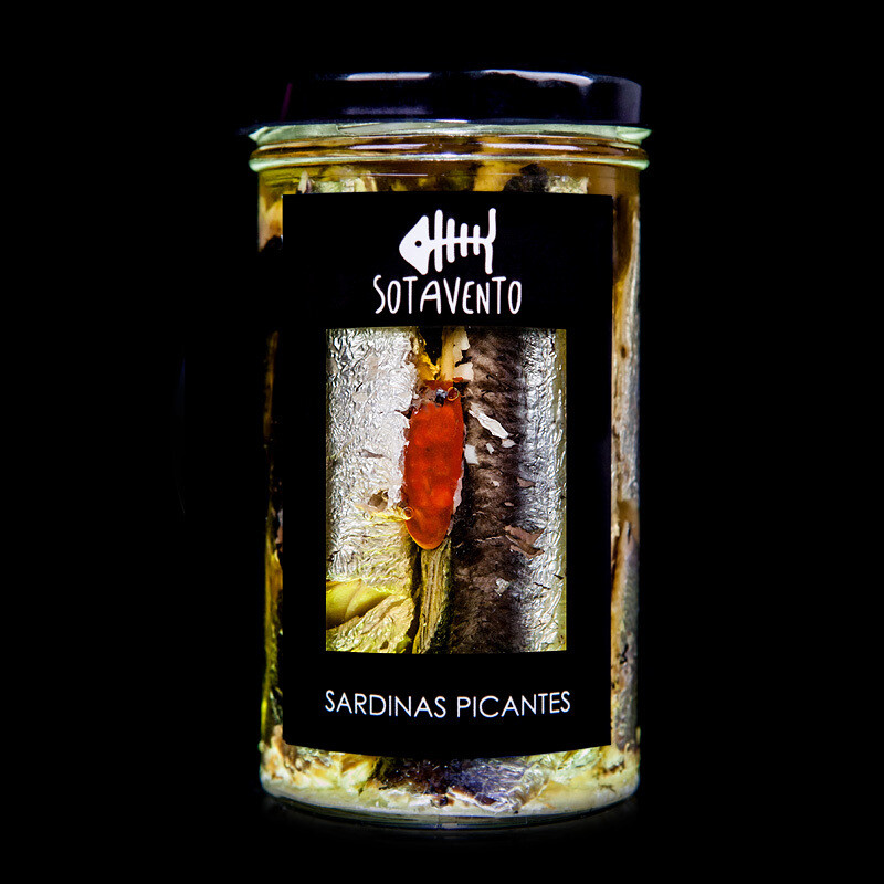 Sardinas Picantes en Aceite de Oliva Virgen Extra (AOVE) - Sotavento Conservas Artesanas