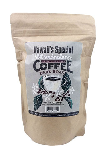Waialua Coffee - Dark Roast, 8 oz - Whole Bean