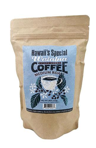 Waialua Coffee - Medium Roast, 8 oz - Ground