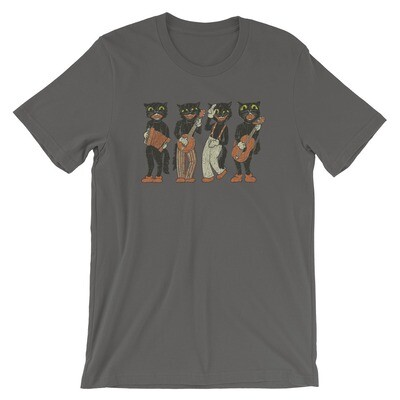 Black Cat Quartet 1940s Halloween Vintage T-Shirt