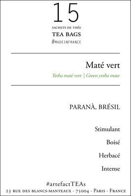 x15 Maté Vert Sachets de Thé | Tea Bags