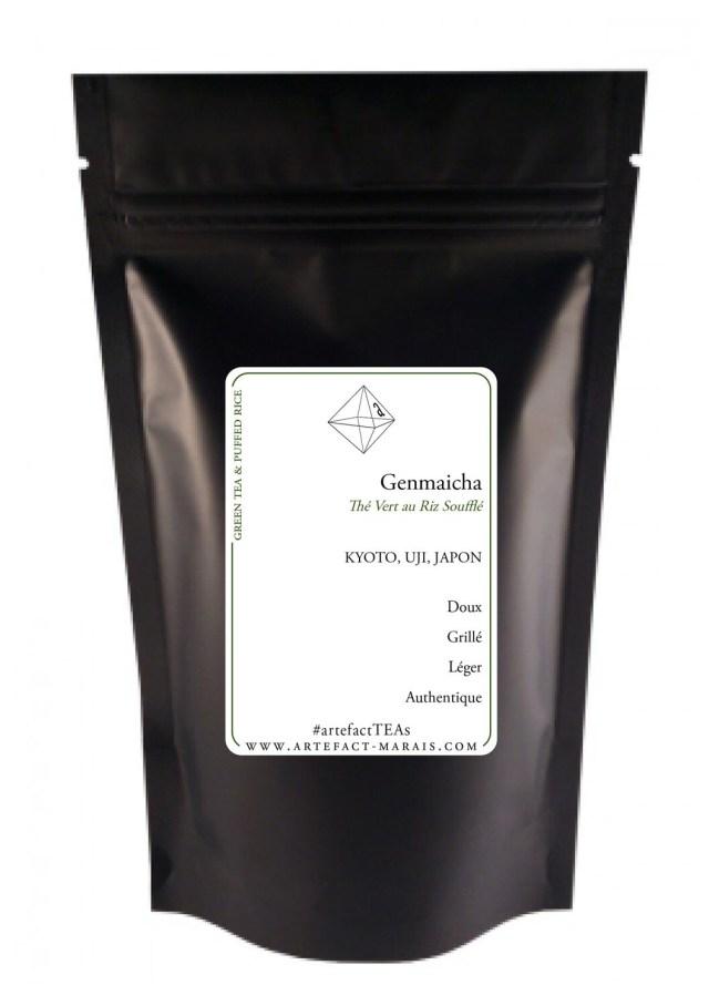 Genmaicha [Thé vert du Japon au riz soufflé] : Paquet 100g