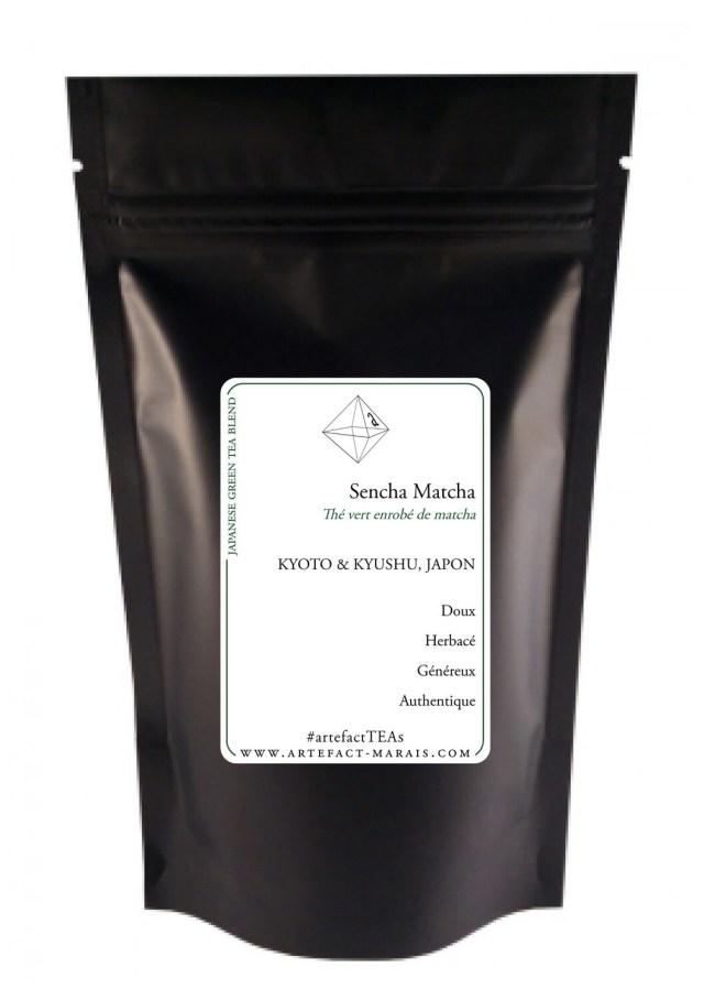 Sencha Matcha [Thé vert du Japon enrobé de Matcha] : Paquet de 100g
