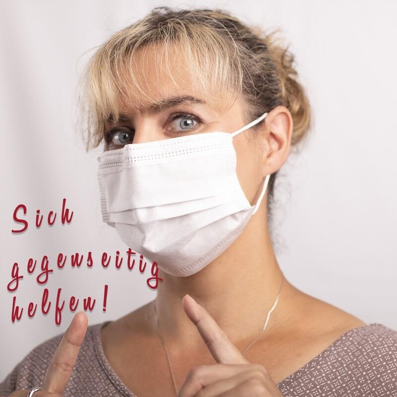 12 x Einweg Mund-Nasen-Schutz