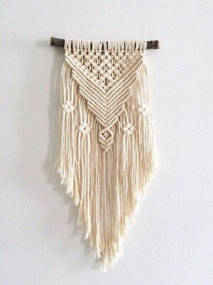 Macrame Wall Hanging with Costa Rican artist Monika Lachner.  Saturday, October 23, 2021 3:00-7:00 pm  Materials included.