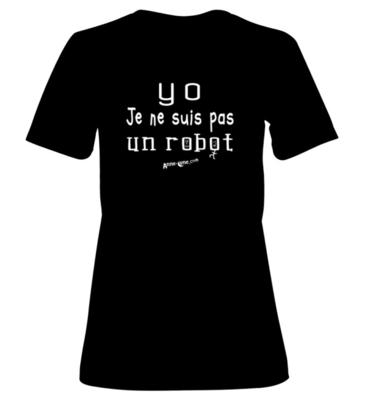 T-shirt femme modèle robot (taille L) *PRIX RÉDUIT!
