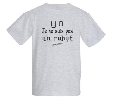 T-shirt enfant modèle robot (taille L) *PRIX RÉDUIT!
