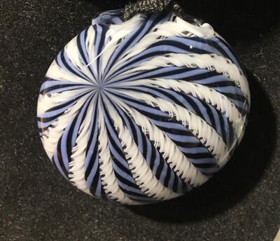 Harold Cooney White & Blue Zanfirico Pendant