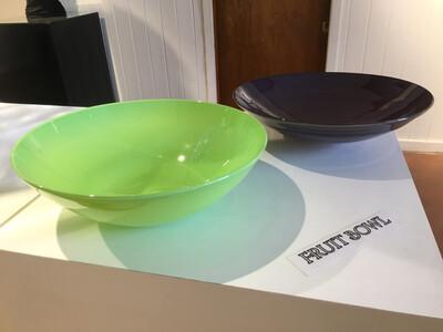 Lime Green Blown Glass Bowl