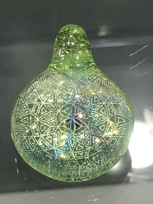 Subtl Large Green Dichroic Pendant W/ Opal
