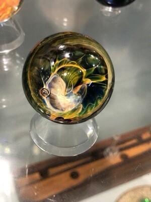 "Fume Latti Cane Marble w/ Moon Pattern Back 1.5"""