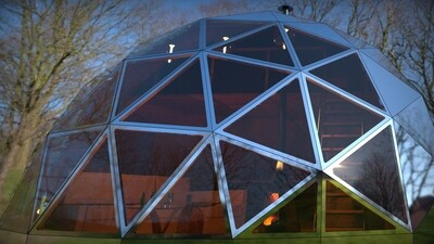GEODESIC DOME COMPLETE INSTALLED