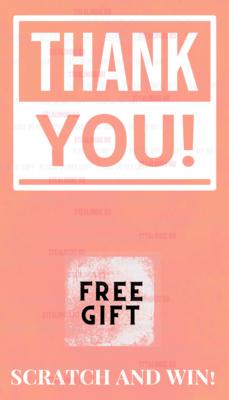 Customer Appreciation Scratch off card