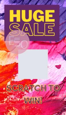Customer Appreciation  Sale Scratch off card