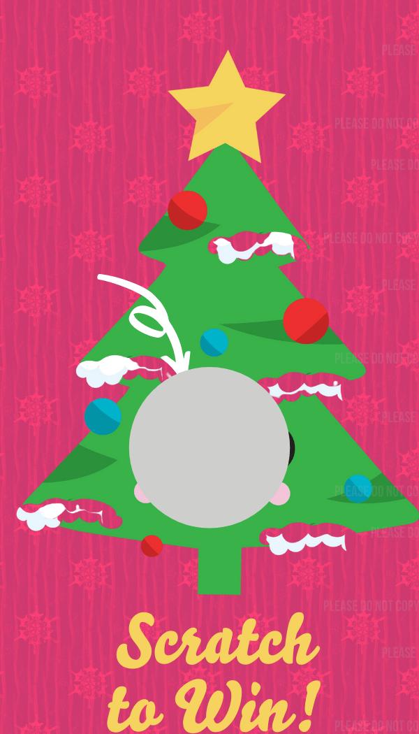 Christmas  Scratch off card,