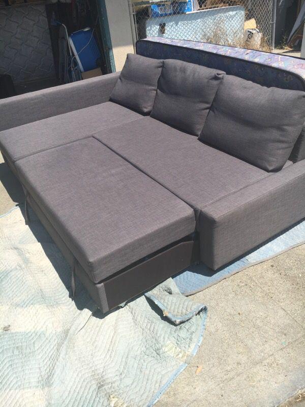 IKEA FRIHETEN Sleeper Sectional 3 Seat Wottoman Skiftebo
