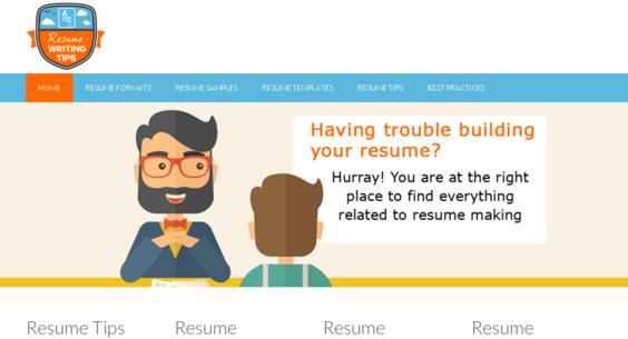resume writing tips com starter site listed on flippa super