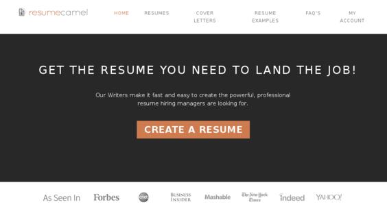 resumecamel com starter site listed on flippa resume writing
