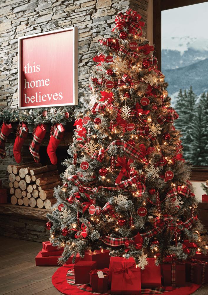 Pre Lit Lightly Flocked Christmas Tree Deseret Book