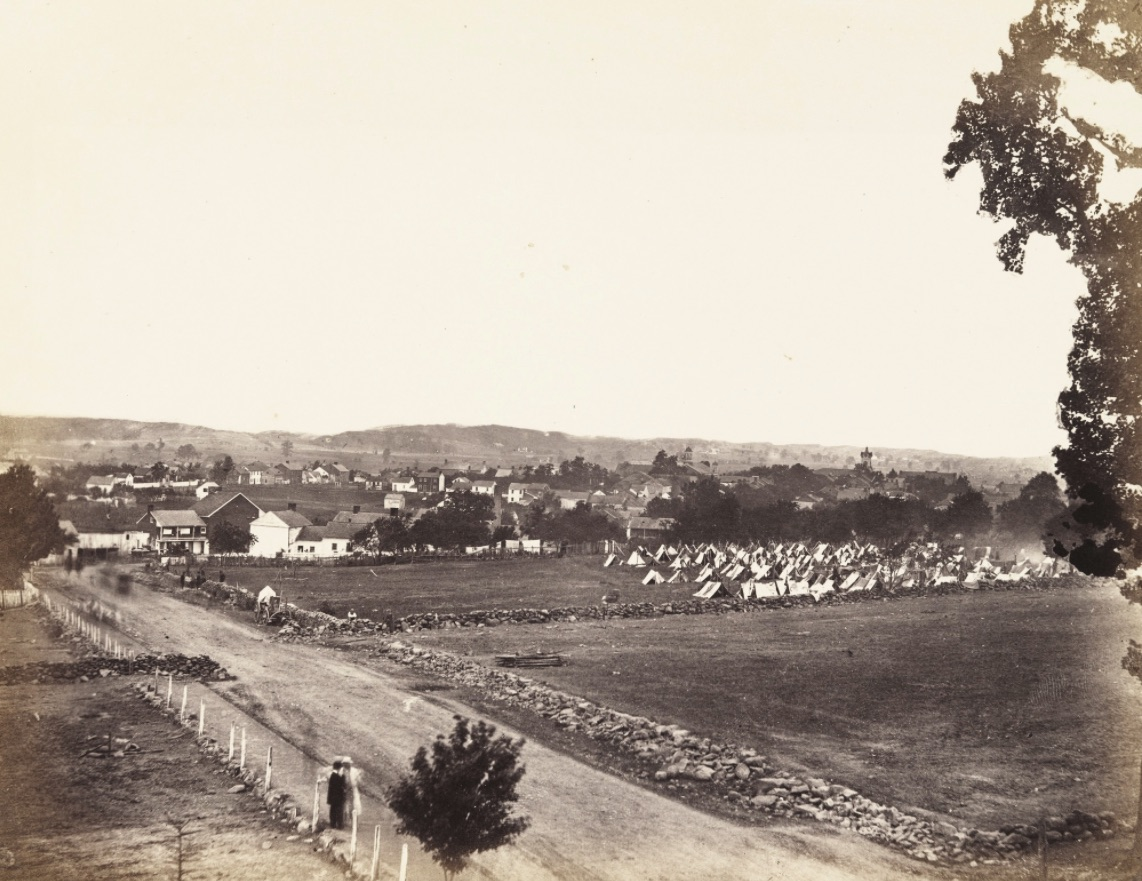 A Photograph Of The Town Of Gettysburg Pennsylvania In