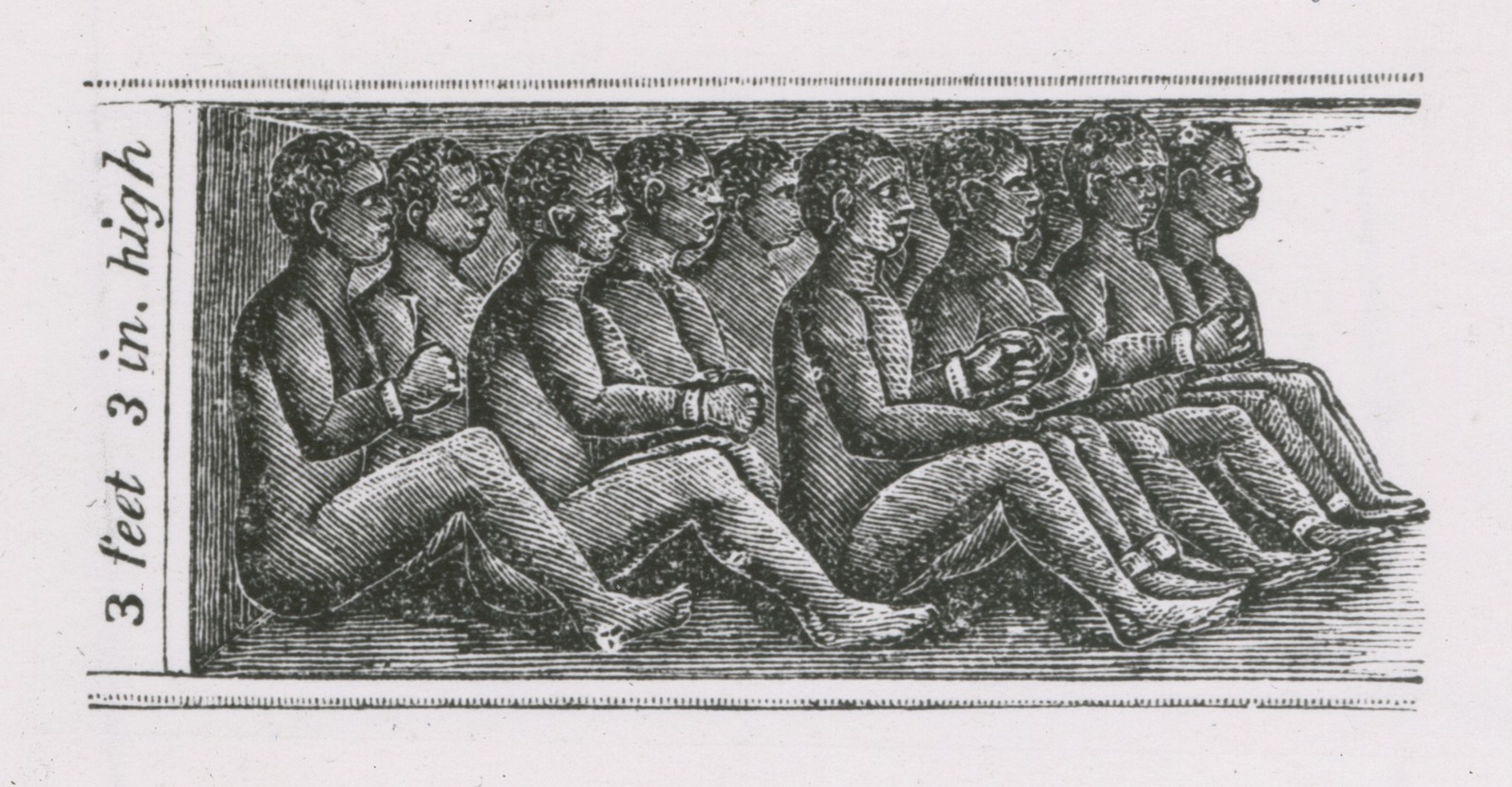 An Illustration Of Chained African Slaves In The Cargo