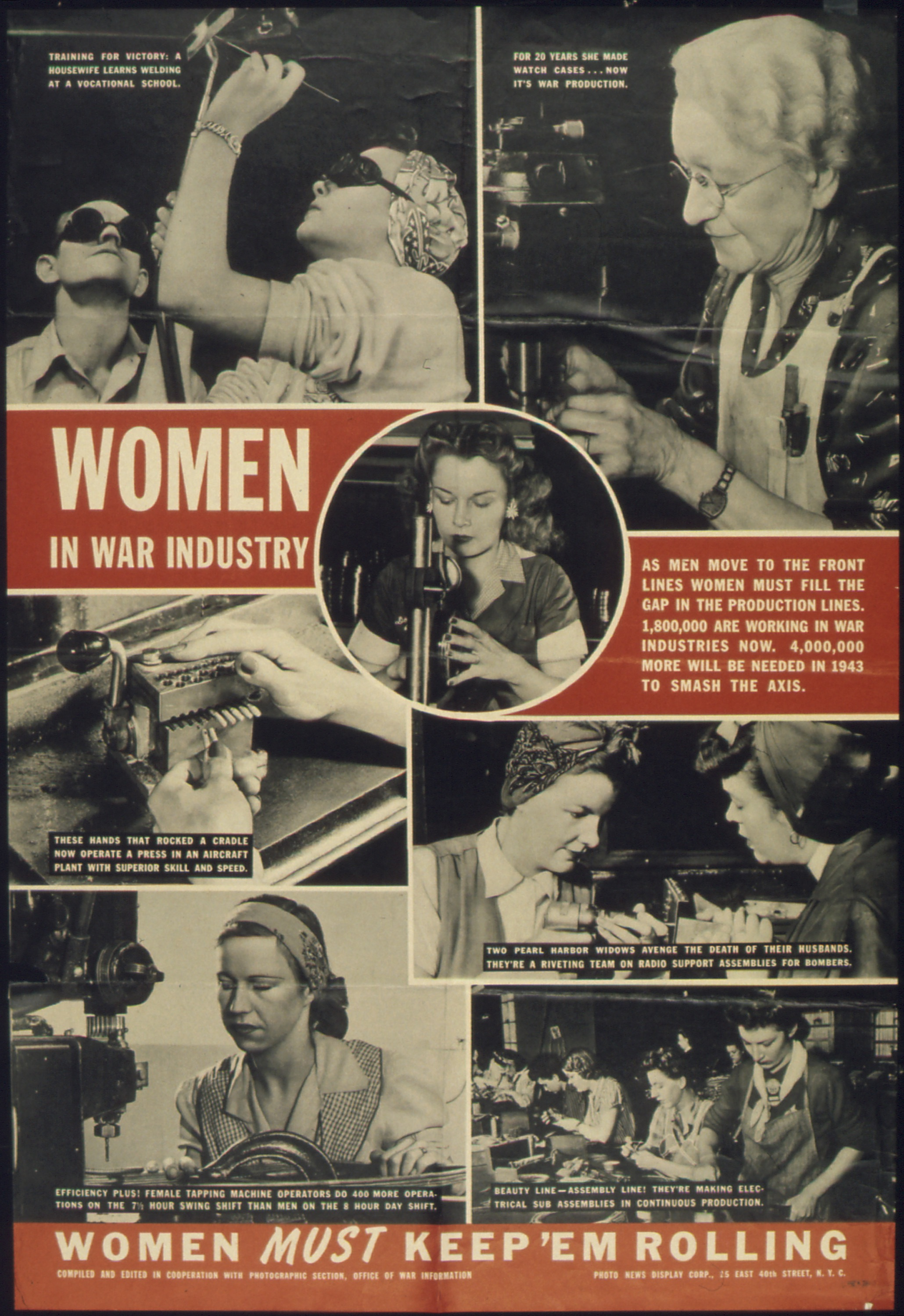 A Poster Highlighting Women Working In The War Industry