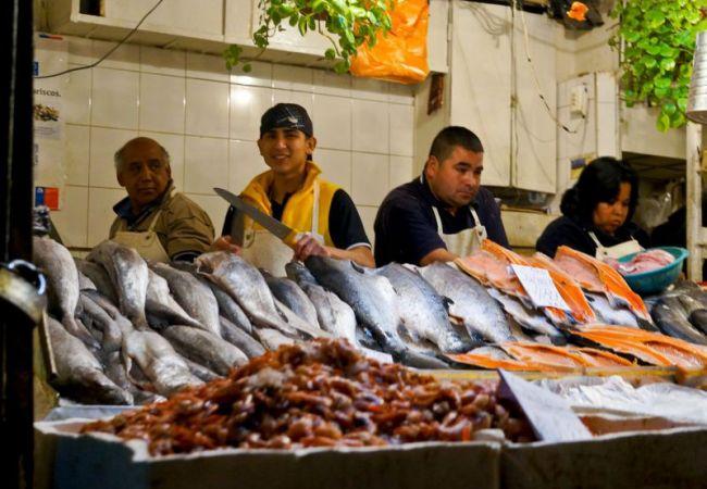 Mercado central, Santiago du Chili