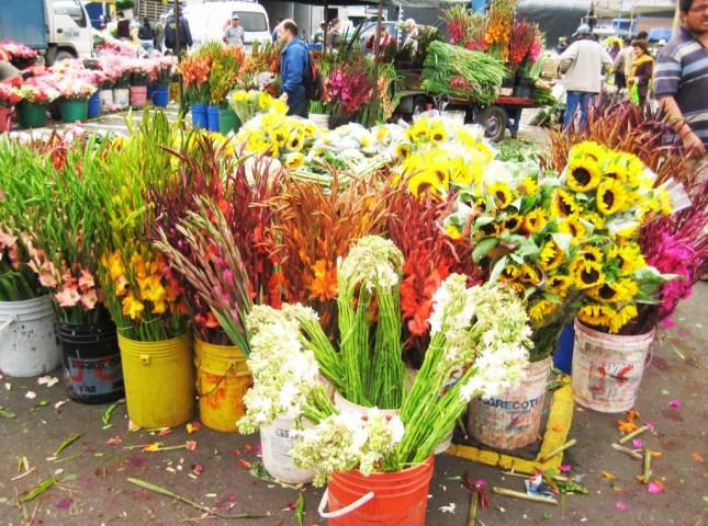 Straßenverkauf Blumen