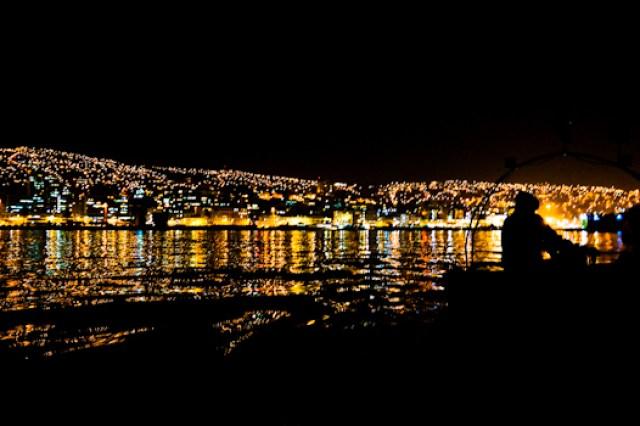 Valparaiso lights Nightview