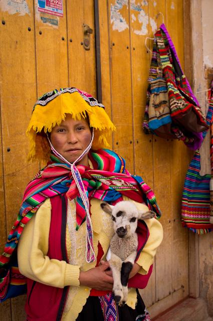 Woman at the market in Pisac, Peru