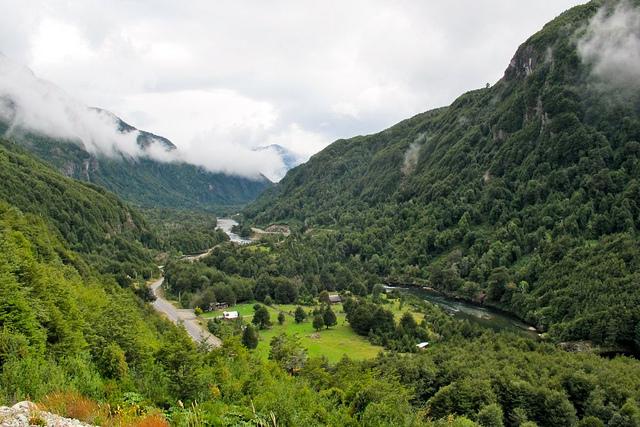 Vue magnifique de la route australe chili
