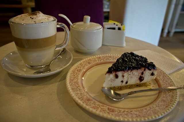 Coffee and cake at La Valeriana in Cusco, Peru