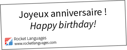 Happy Birthday In French Rocket Languages