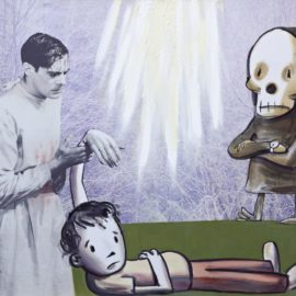Nicole Eisenman-Death Waits Impatiently Co-Starring Clive Banks-2002