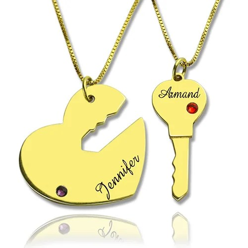 Valentines Day Gifts Key To My Heart Necklaces Set