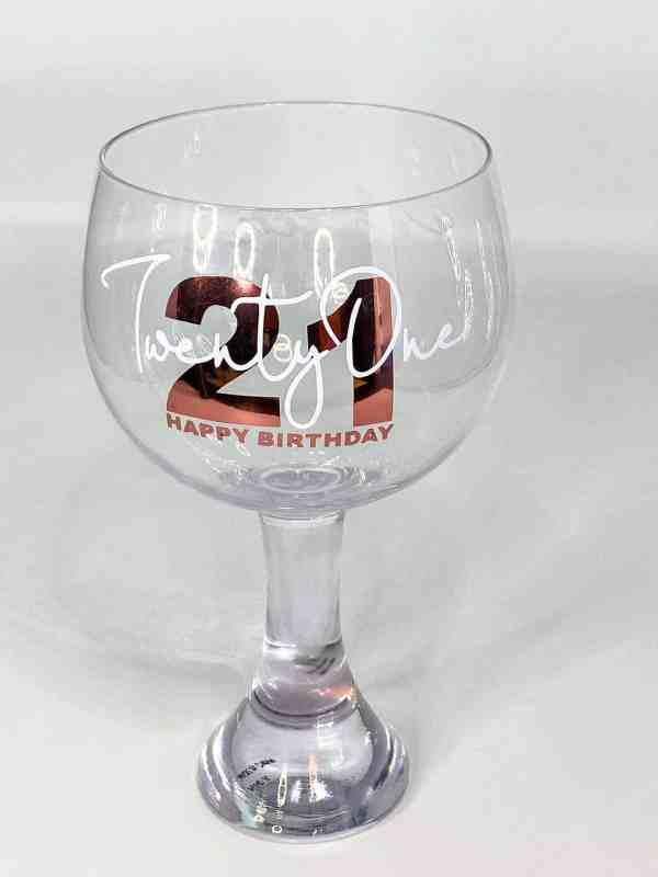 Customised Birthday Gin Glasses