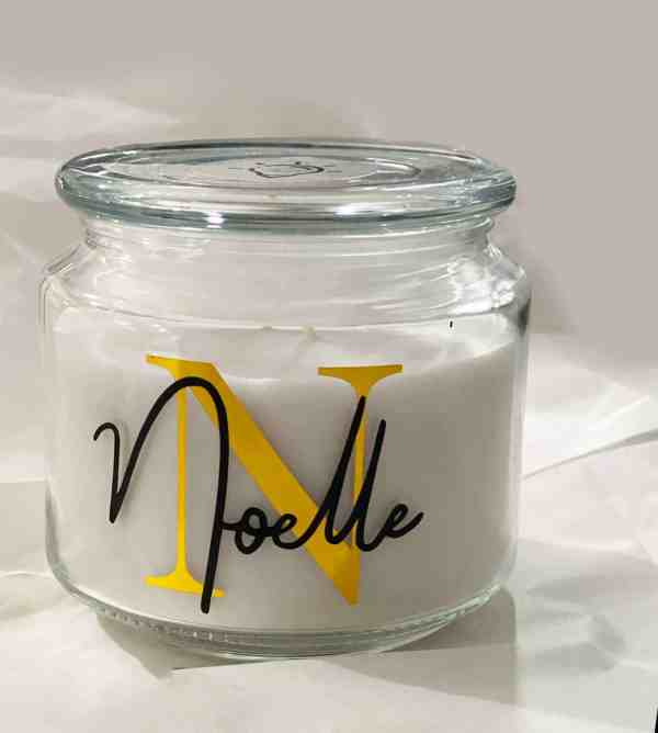 Large Personalised Candle