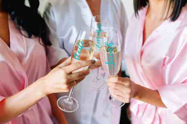 Personalised champagne Flutes/ Prosecco Glasses