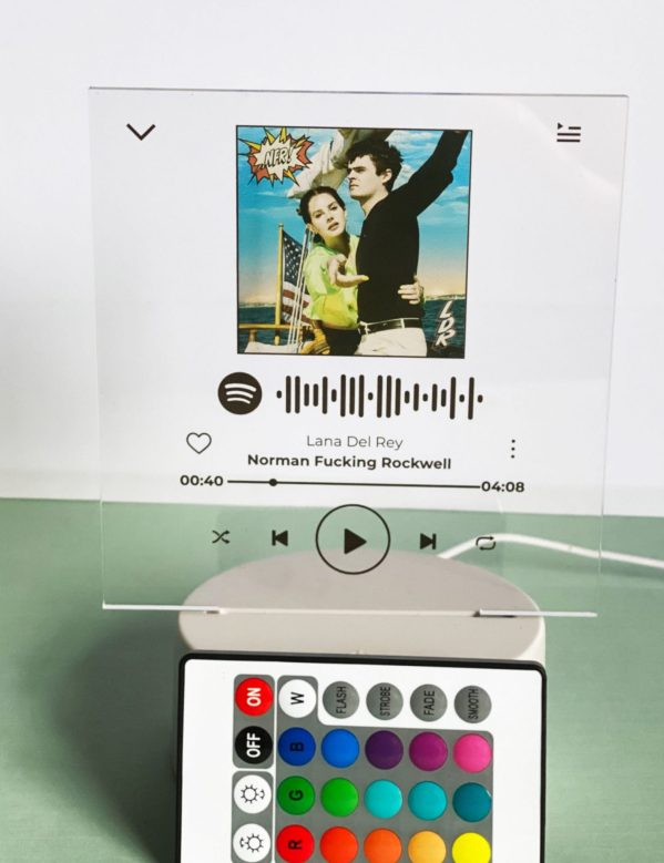 Spotify LED Plaque With Remote Control