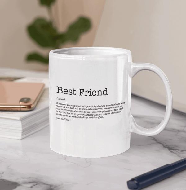 Best Friend Dictionary Definition Mug