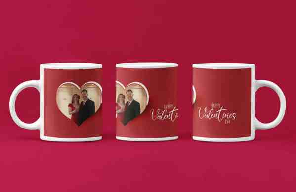 Valentine Heart Photo Mug