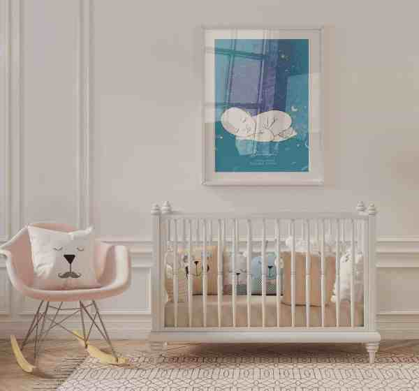 Baby Boy Star Map