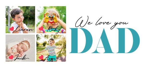 We Love You Dad Collage Mug