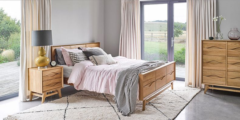 wooden oak king size beds queen